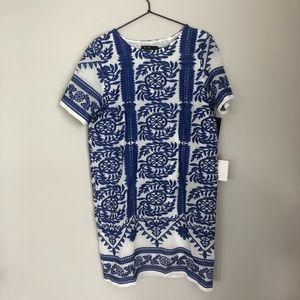 Blue and white dress from LuLus